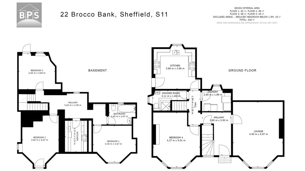 Floor plans for estate agents and letting agents in Sheffield